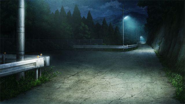 Красивый фон аниме улица ночь 15