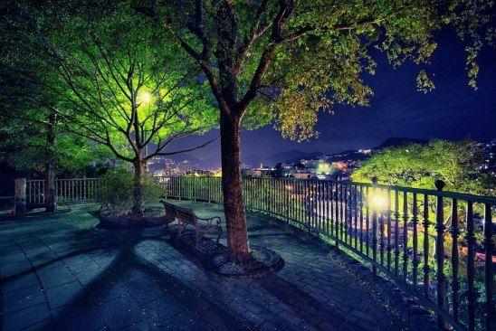 Красивый фон аниме улица ночь 16