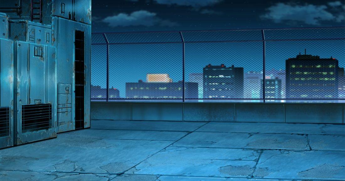 Красивый фон аниме улица ночь 17