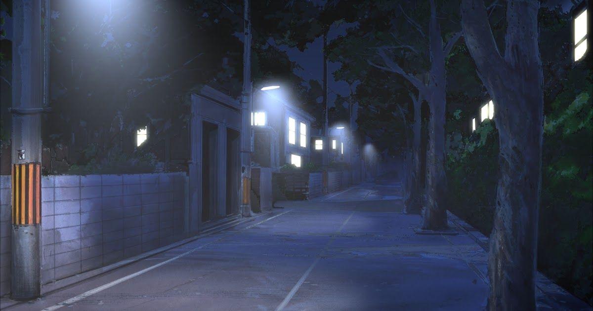 Красивый фон аниме улица ночь 2