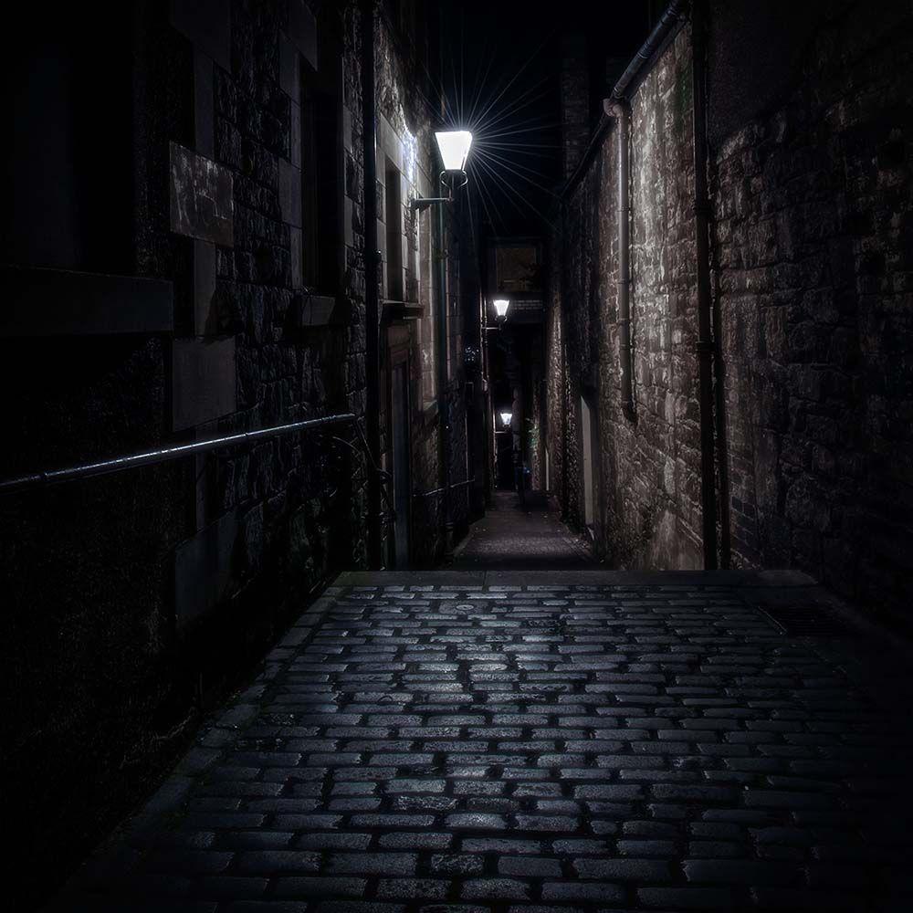 Красивый фон аниме улица ночь 7
