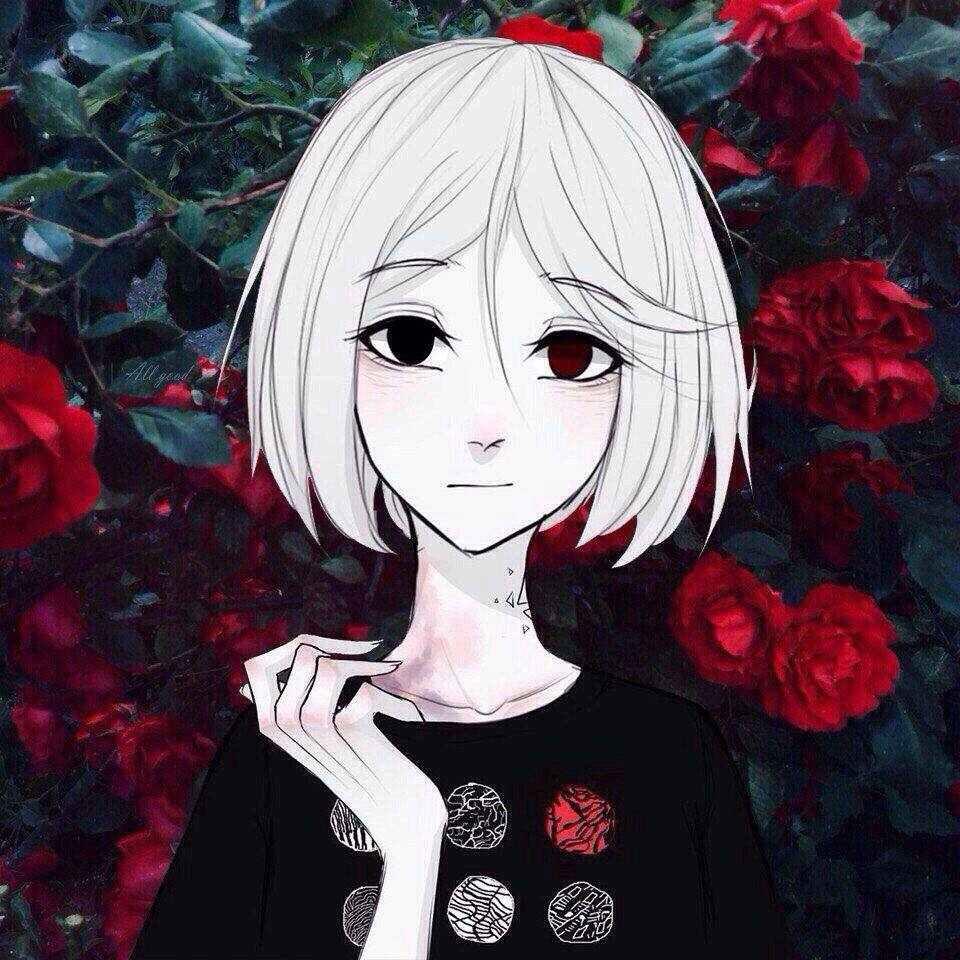 Крутые черные картинки аниме на аву 05