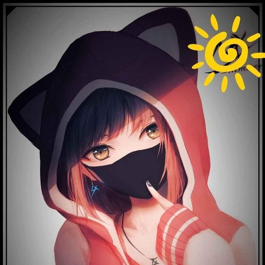 Крутые черные картинки аниме на аву 12