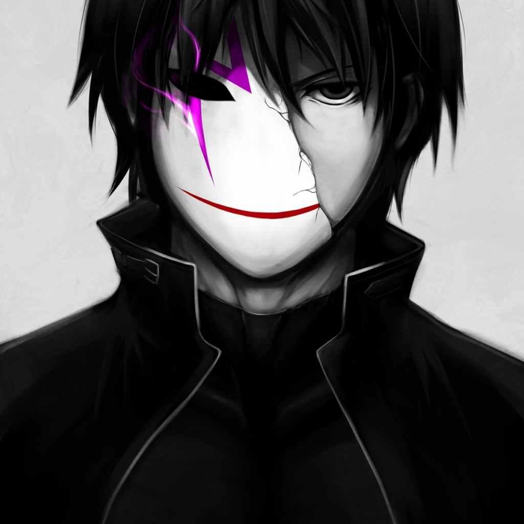 Крутые черные картинки аниме на аву 13