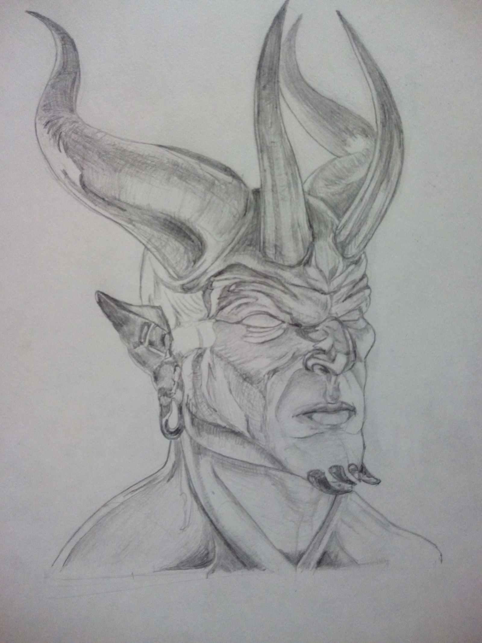 Крутые картинки для срисовки демоны аниме 03