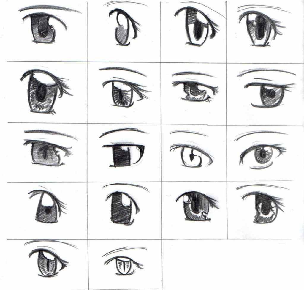 Легкие картинки для срисовки в стиле аниме 04