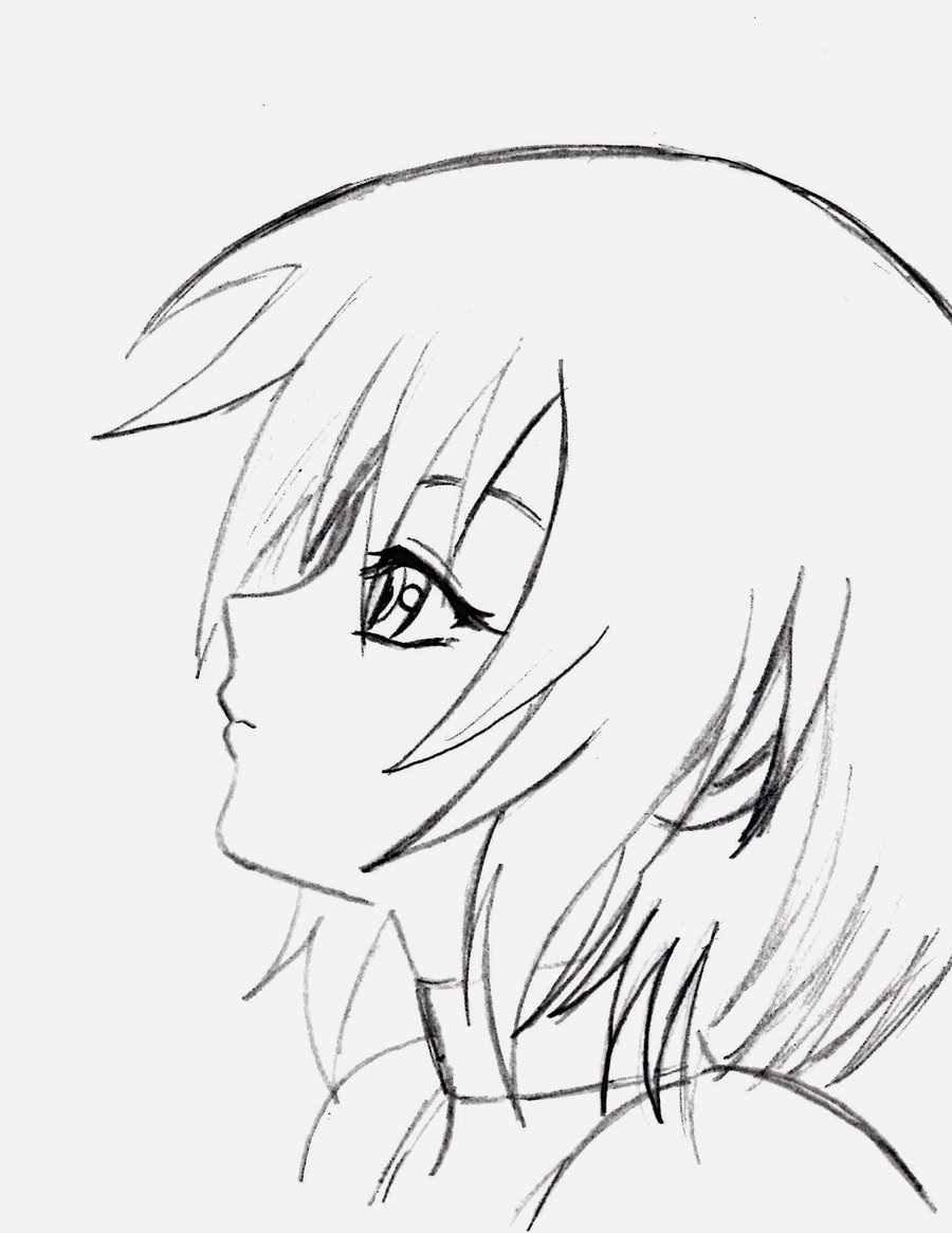 Легкие картинки для срисовки в стиле аниме 06