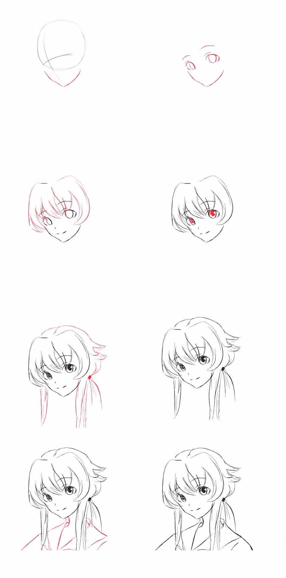 Легкие картинки для срисовки в стиле аниме 07