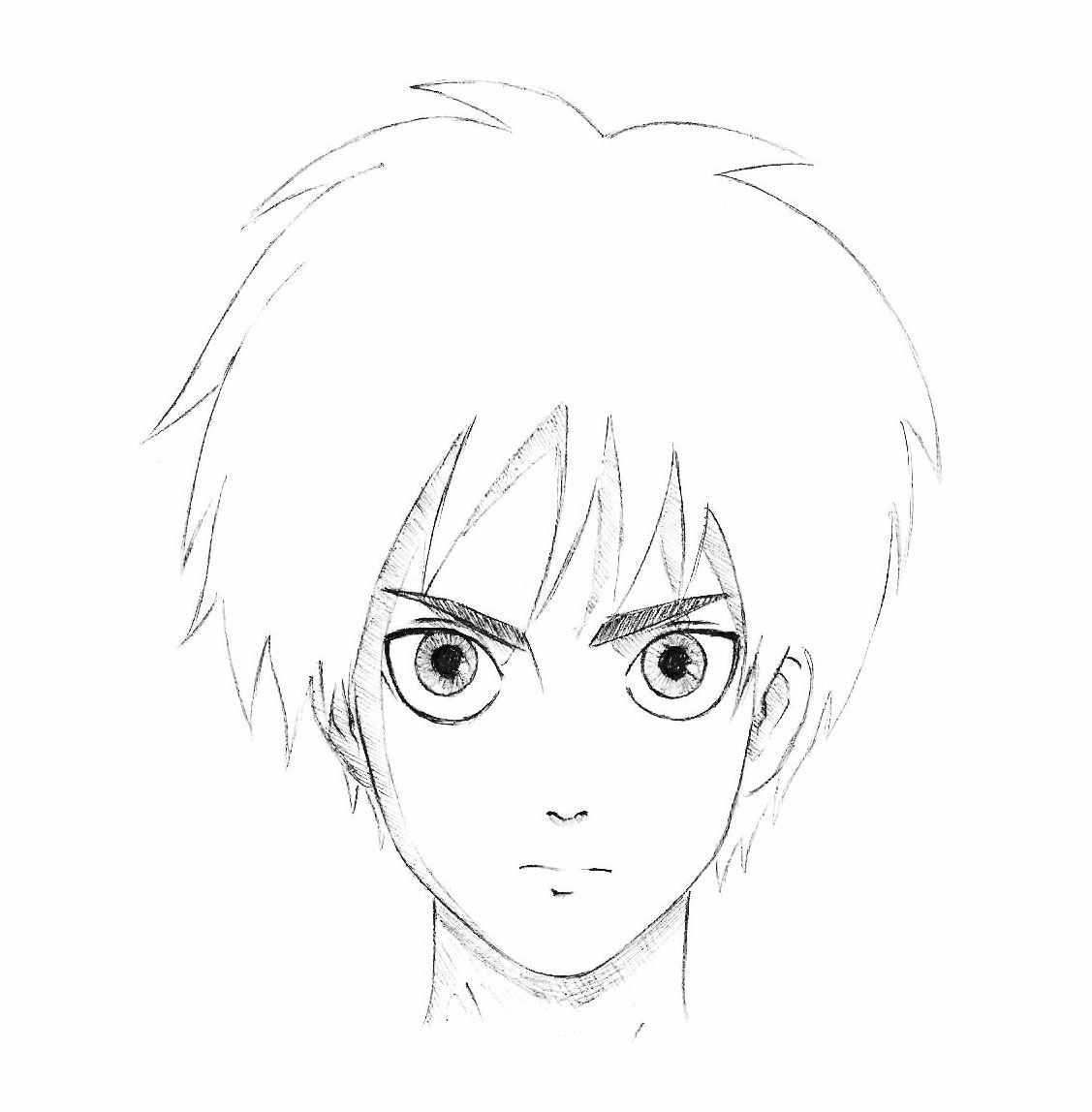Легкие картинки для срисовки в стиле аниме 11