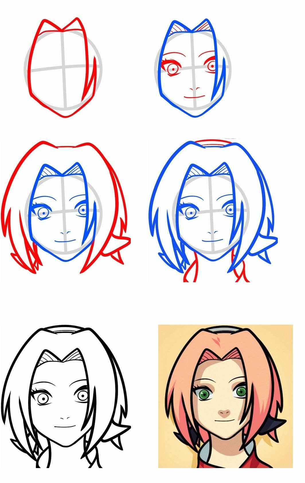 Легкие картинки для срисовки в стиле аниме 12