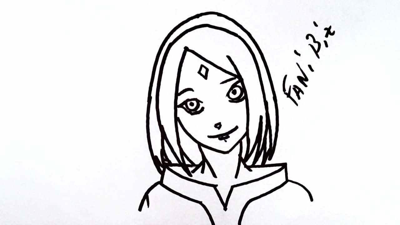 Легкие картинки для срисовки в стиле аниме 13