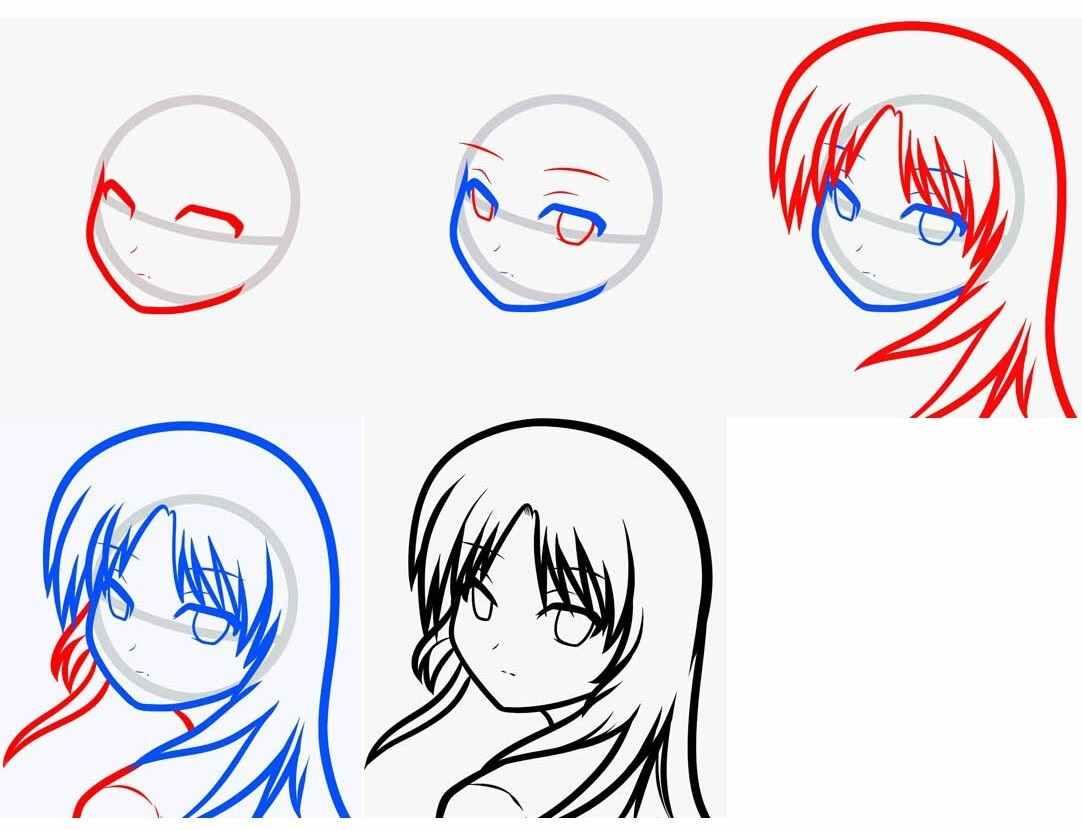 Легкие картинки для срисовки в стиле аниме 16