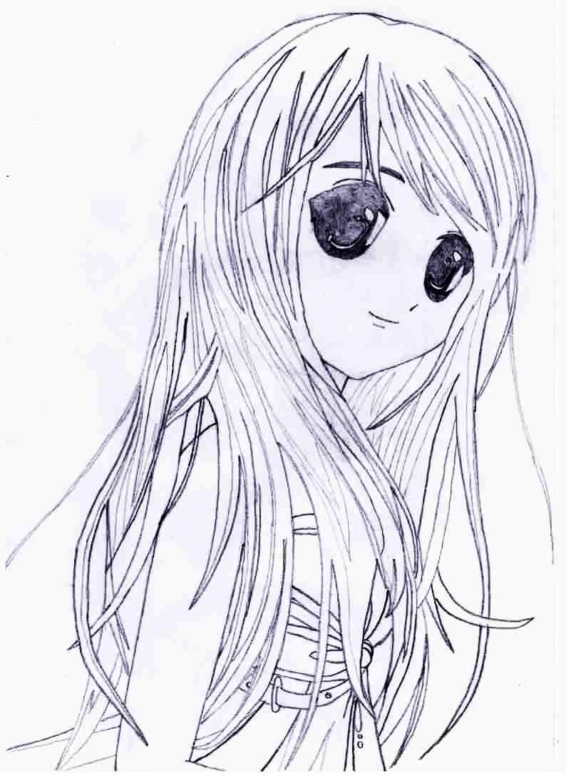 Легкие картинки для срисовки в стиле аниме 17