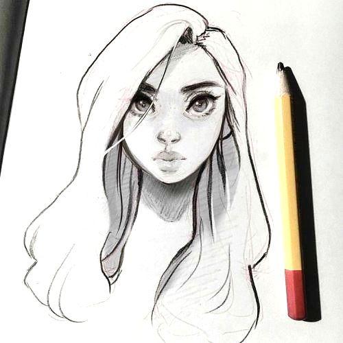 Легкие рисунки каракули для срисовки 12