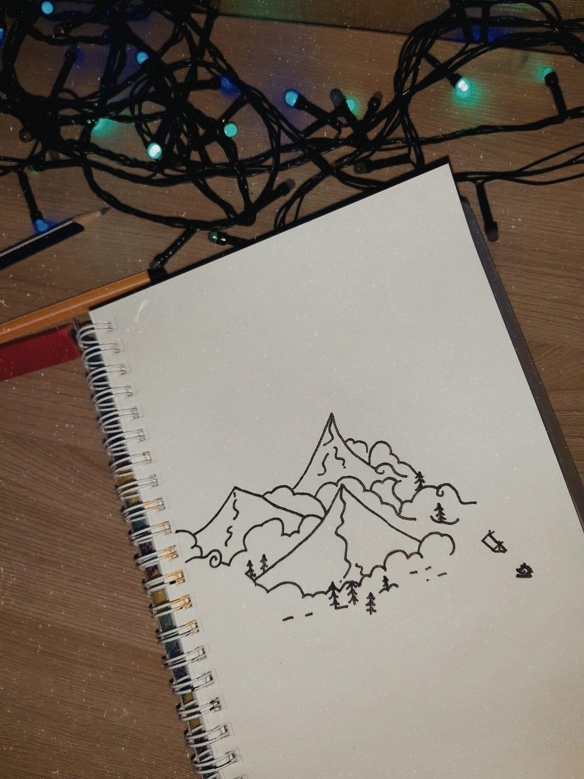 Легкие рисунки каракули для срисовки 25