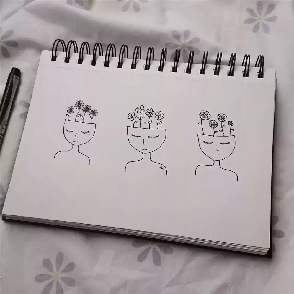 Легкие рисунки каракули для срисовки 32