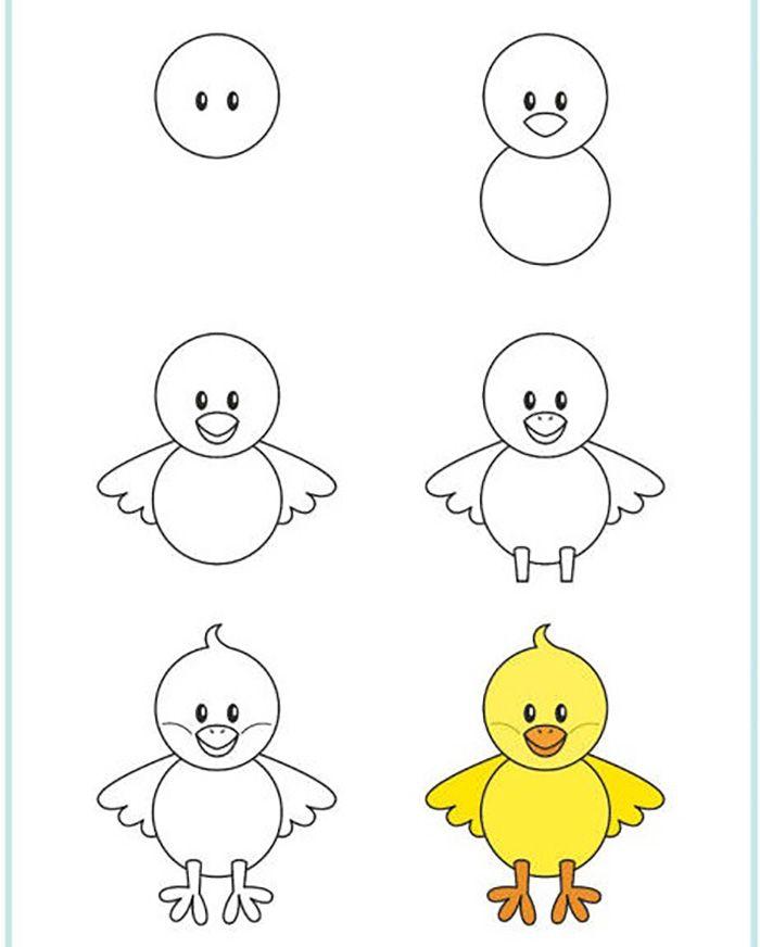 Легкие рисунки каракули для срисовки 6