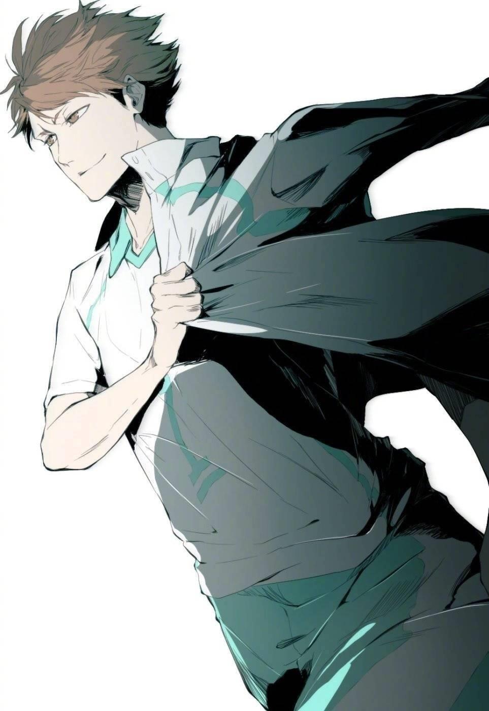 Лучшие арты из аниме волейбол 15