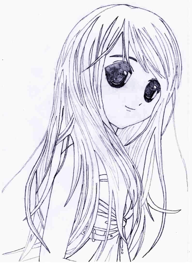 Милые аниме арты тян с ушками для срисовки 07