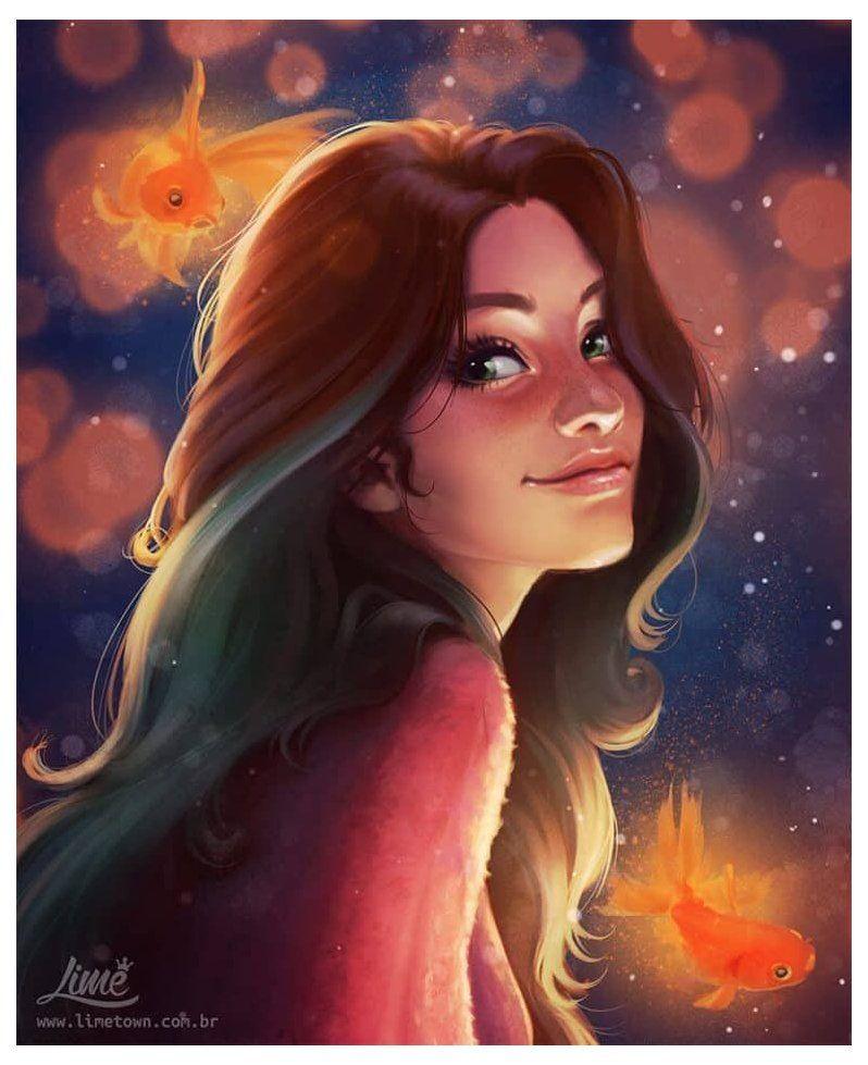 Милые аниме девушки с коричневыми волосами 2