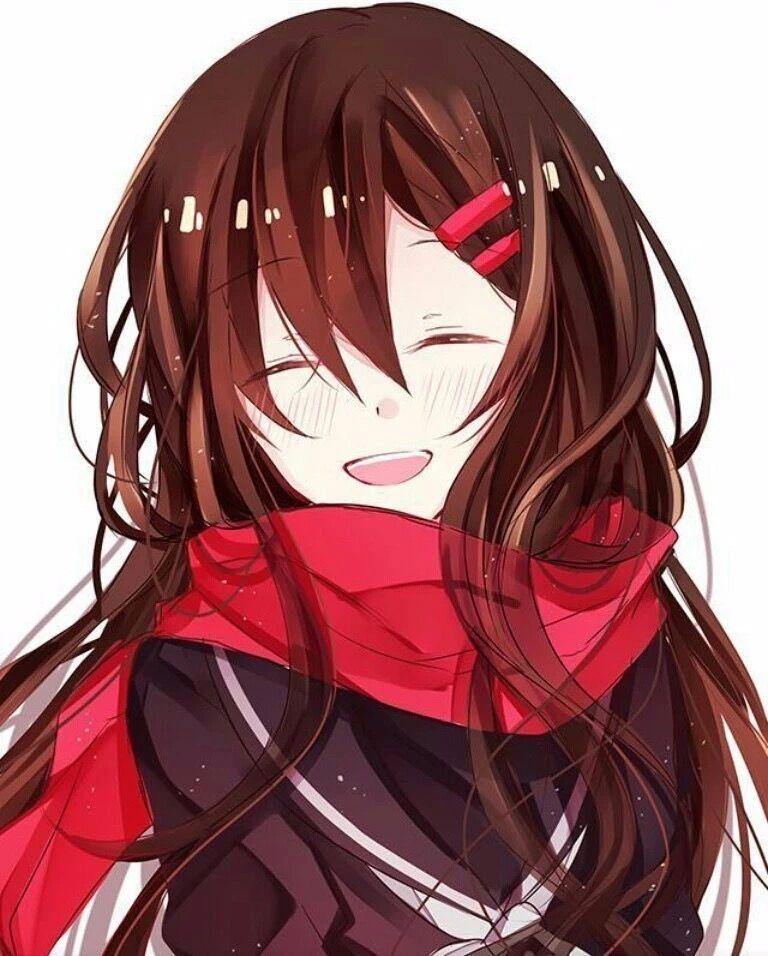 Милые аниме девушки с коричневыми волосами 21