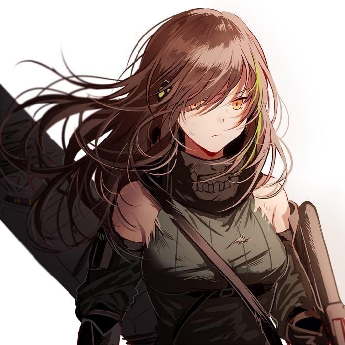 Милые аниме девушки с коричневыми волосами 23