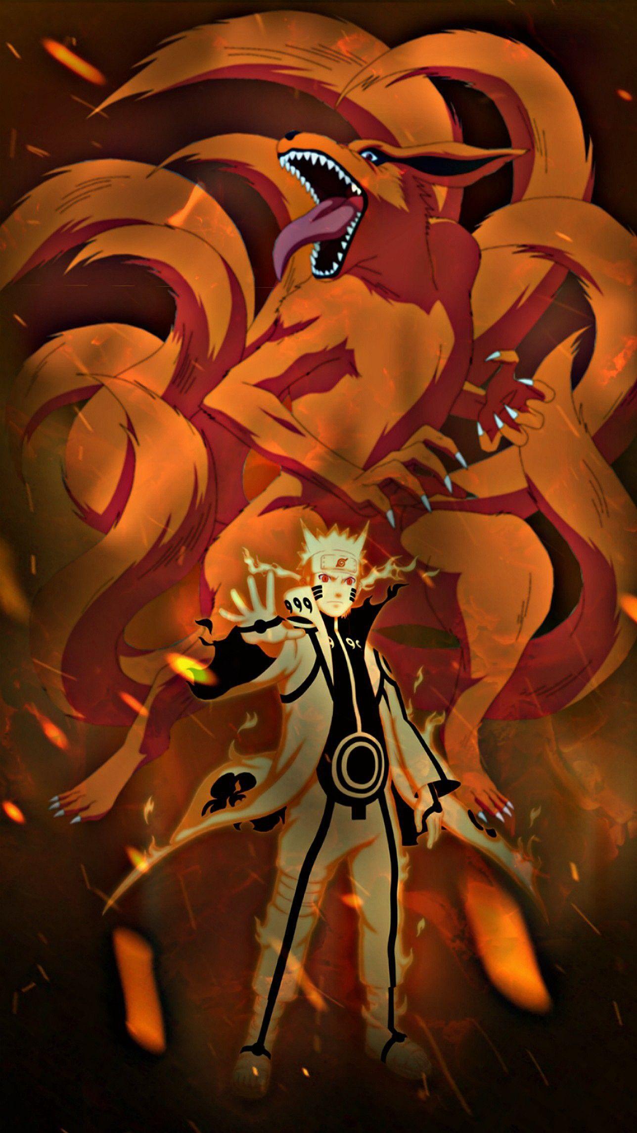 Наруто и его демон хвост