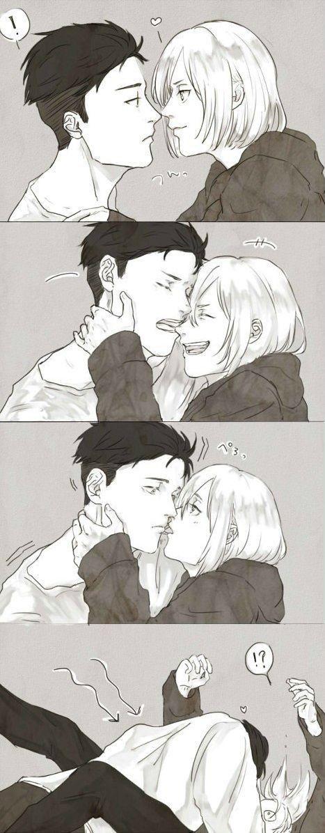 Нежные аниме Юри поцелуи, картинки 14
