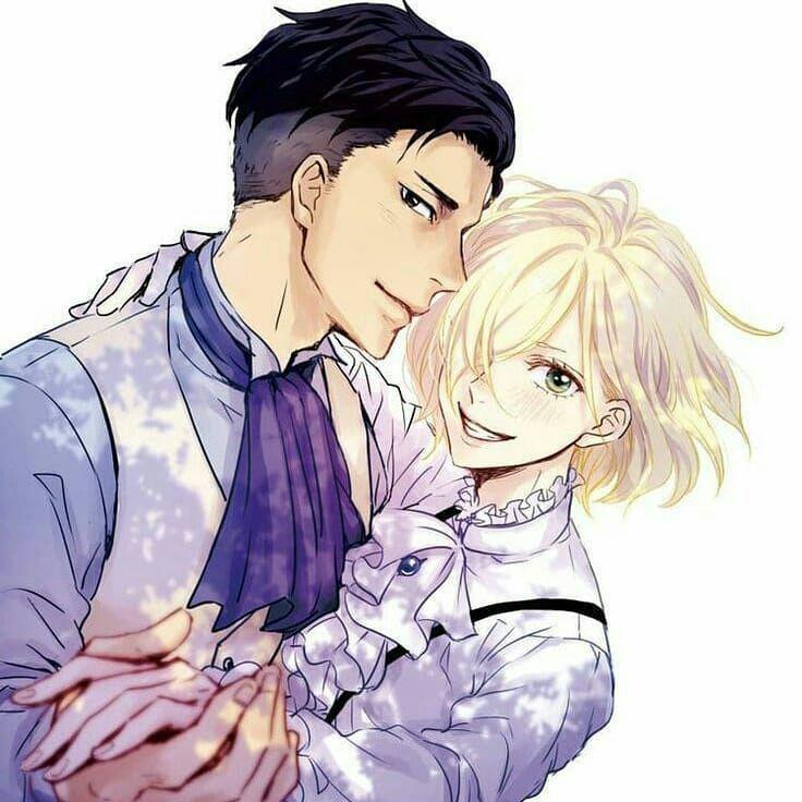 Нежные аниме Юри поцелуи, картинки 23