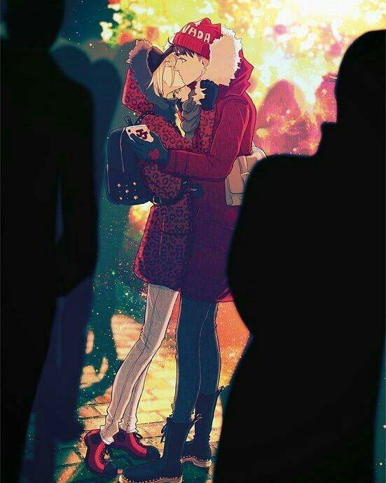 Нежные аниме Юри поцелуи, картинки 25