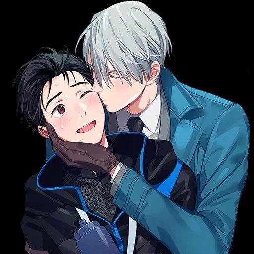 Нежные аниме Юри поцелуи, картинки 8