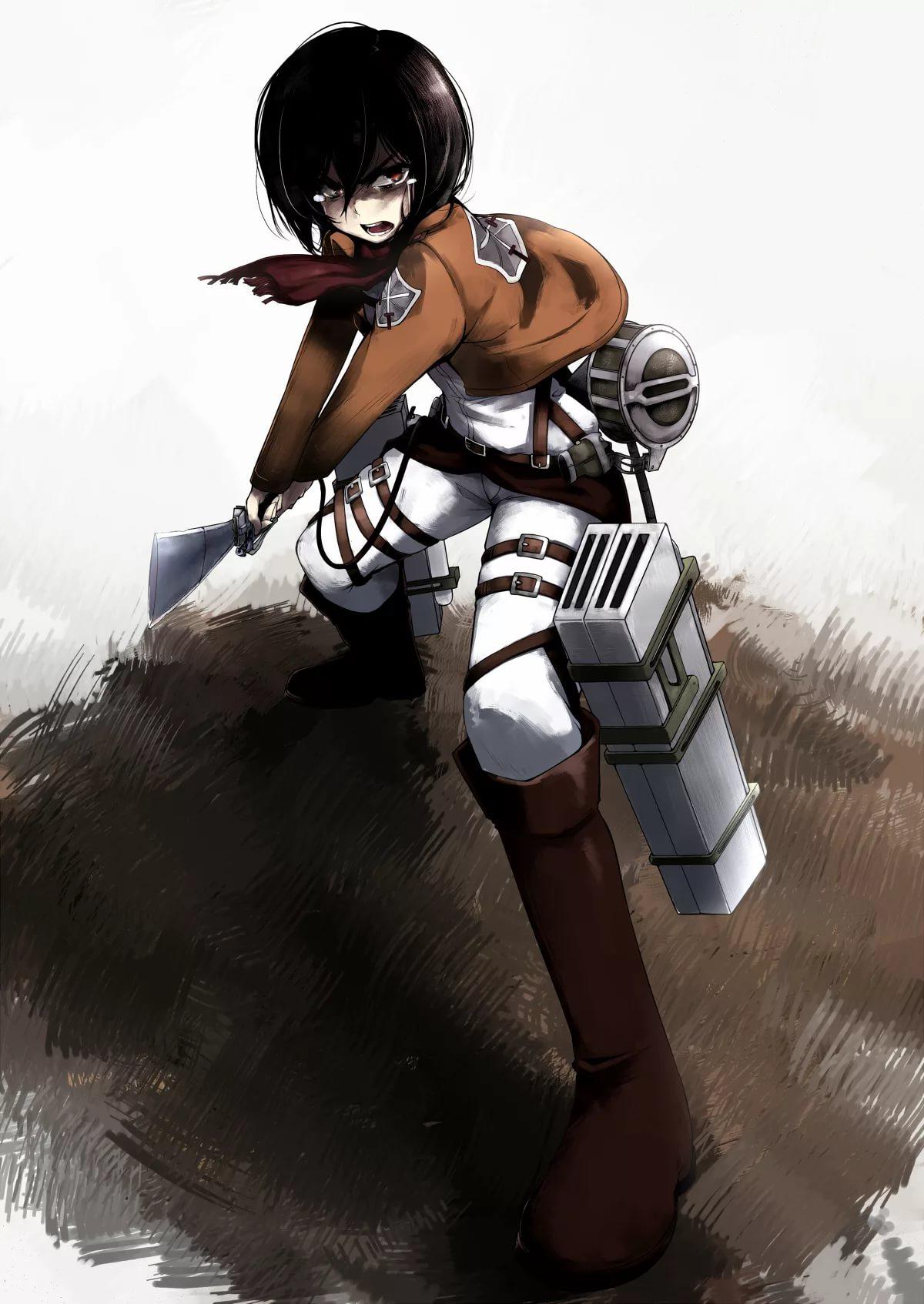 Нежные обои Микаса Атака Титанов 10