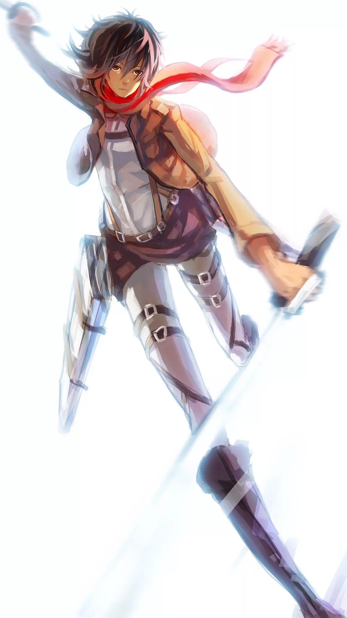 Нежные обои Микаса Атака Титанов 15