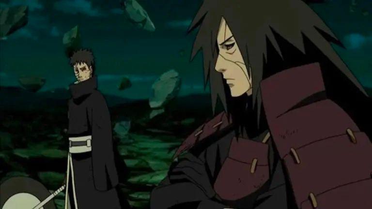 Обито и Мадара в бою
