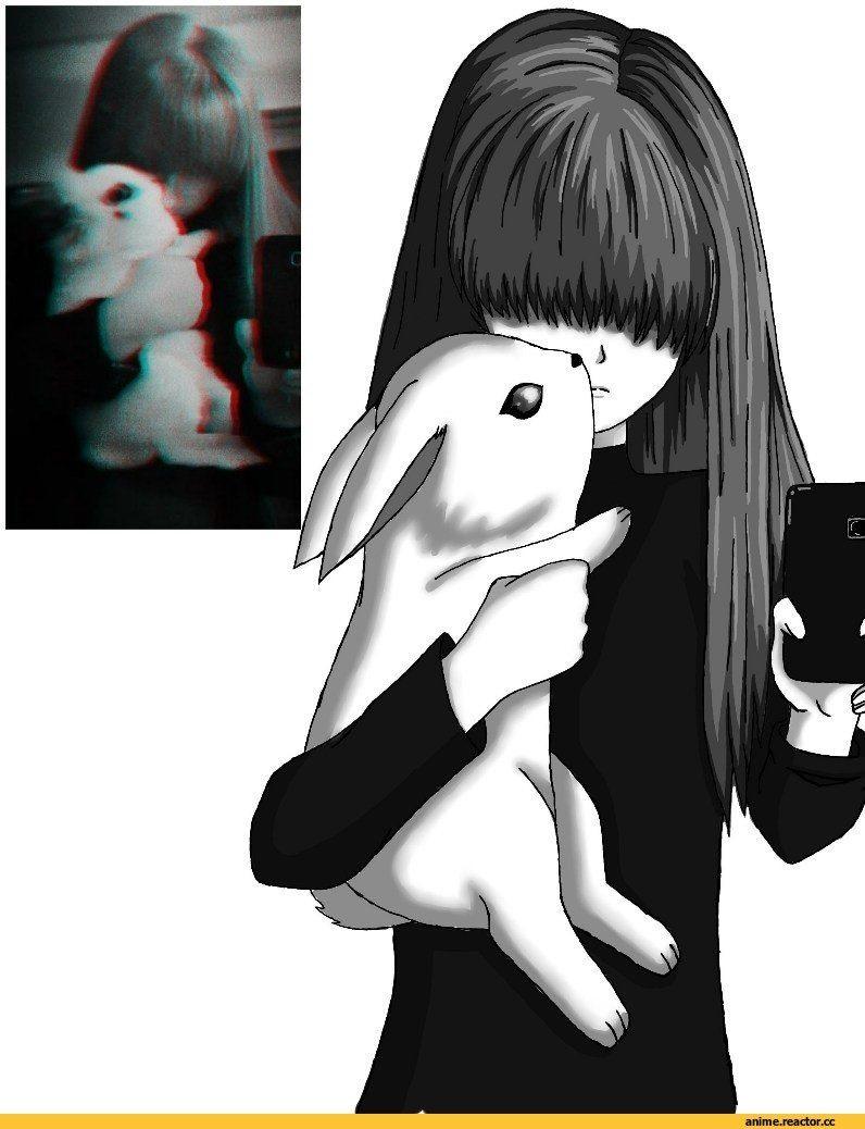 Очень милые аниме арты тян на аву бесплатно 03