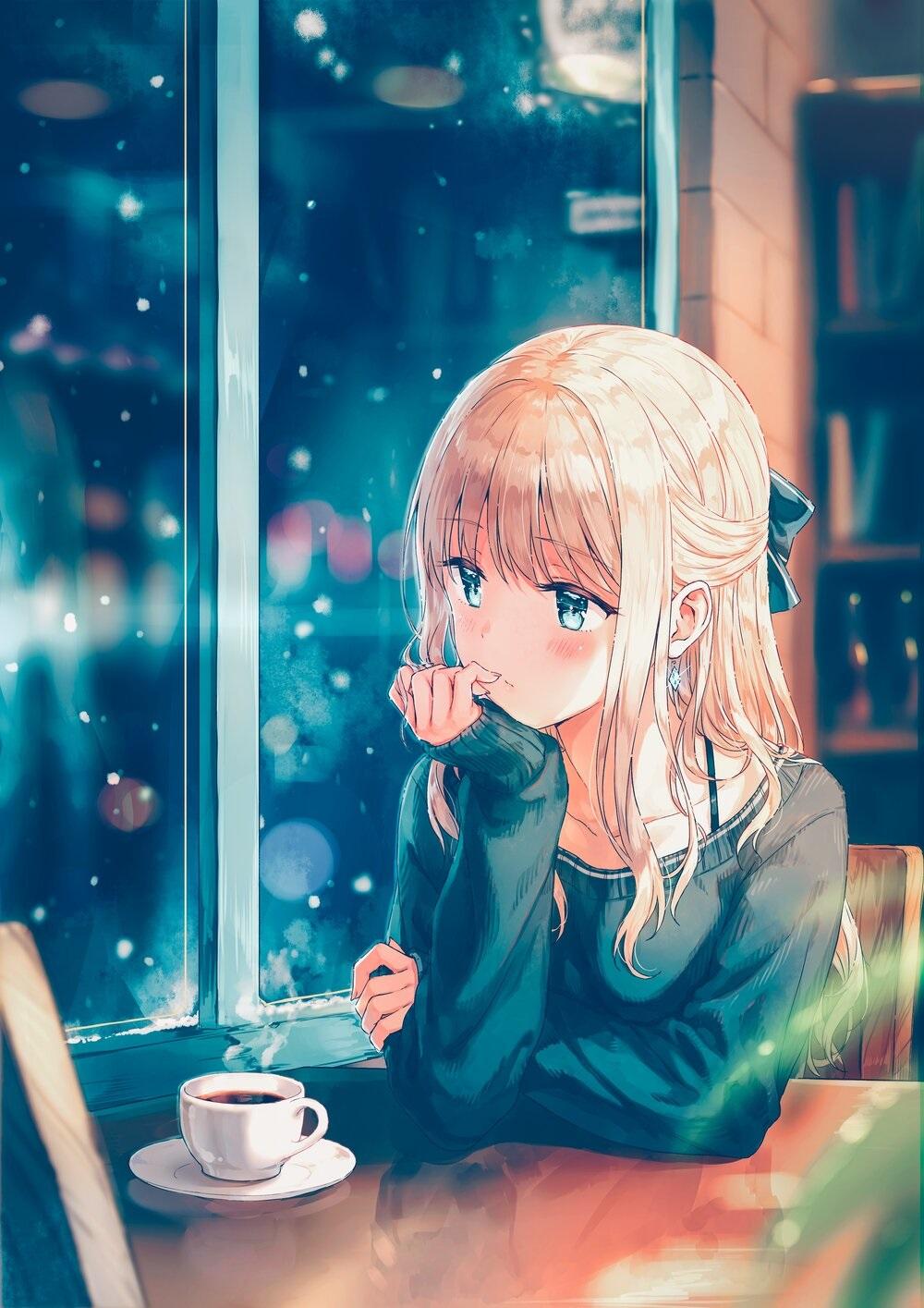 Очень милые аниме арты тян на аву бесплатно 12