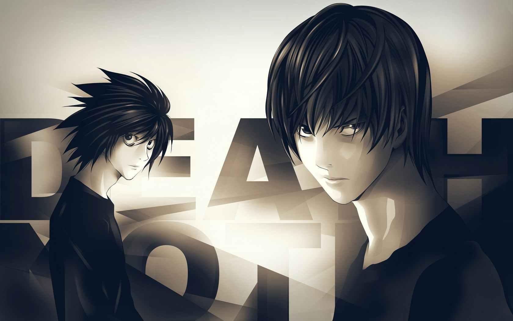 Прикольные аниме картинки черно белые 04