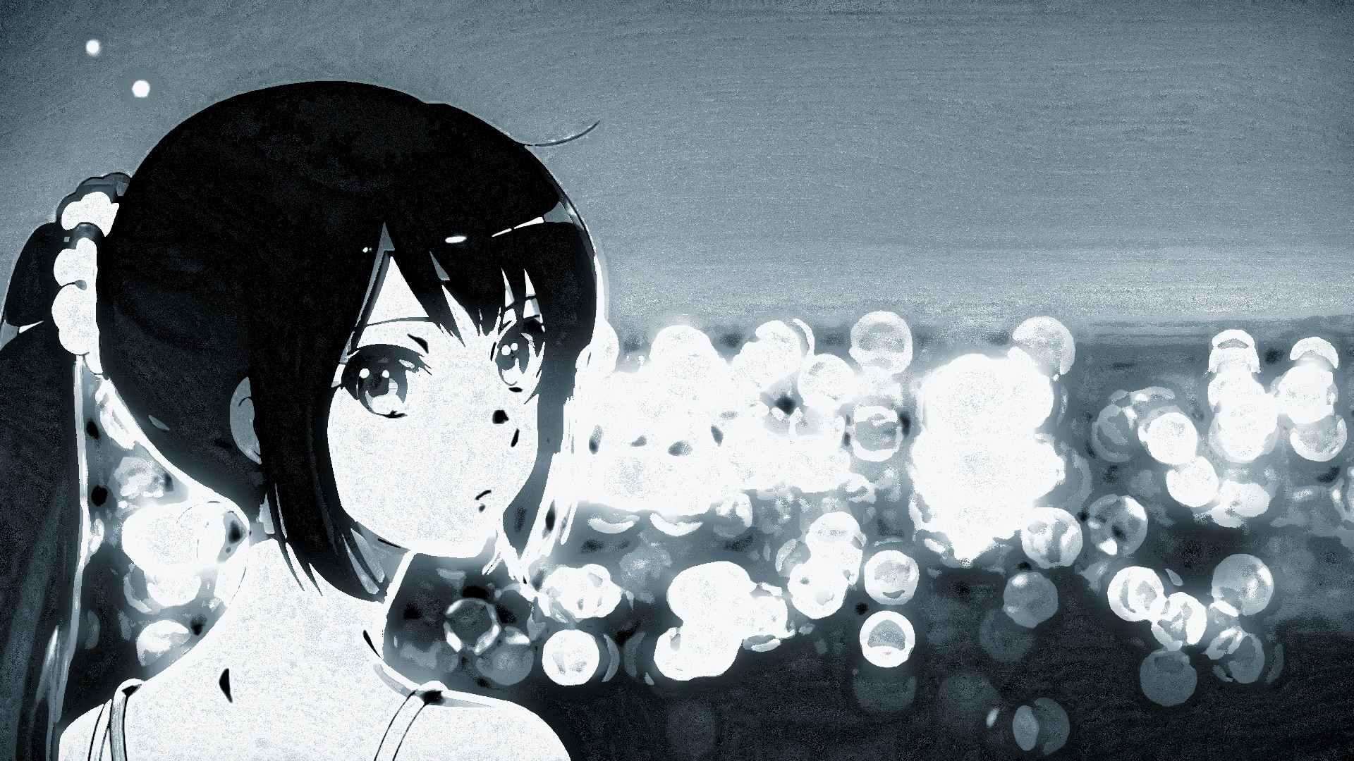 Прикольные аниме картинки черно белые 08