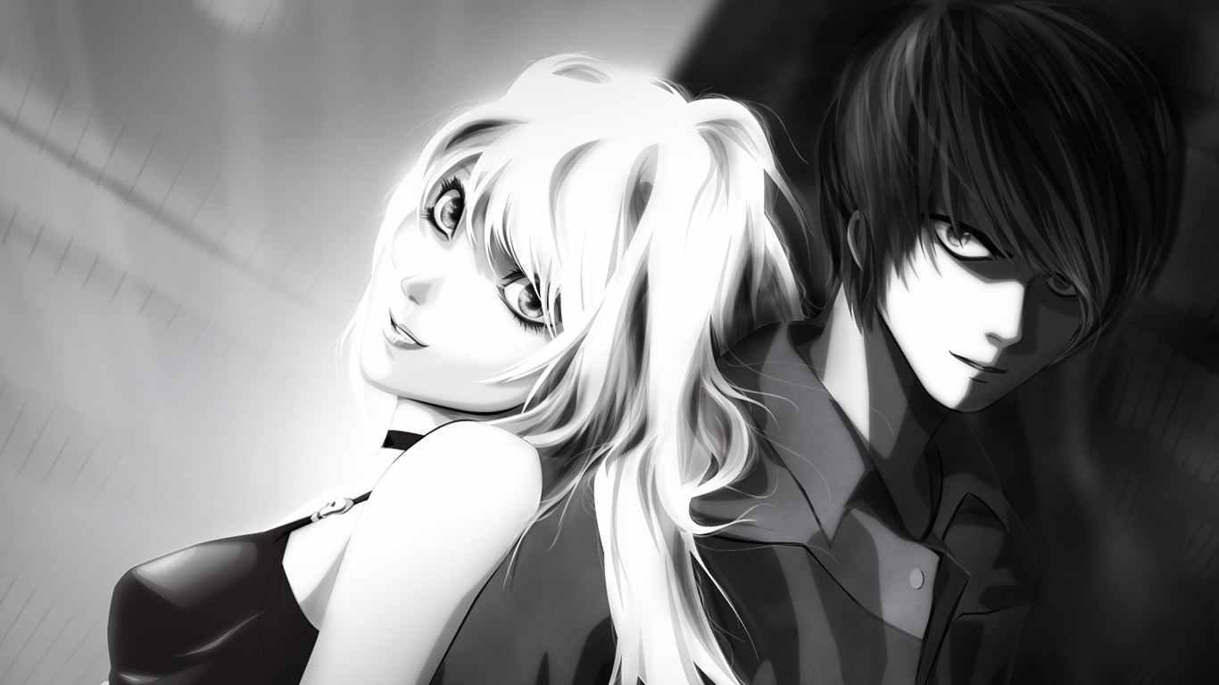 Прикольные аниме картинки черно белые 09