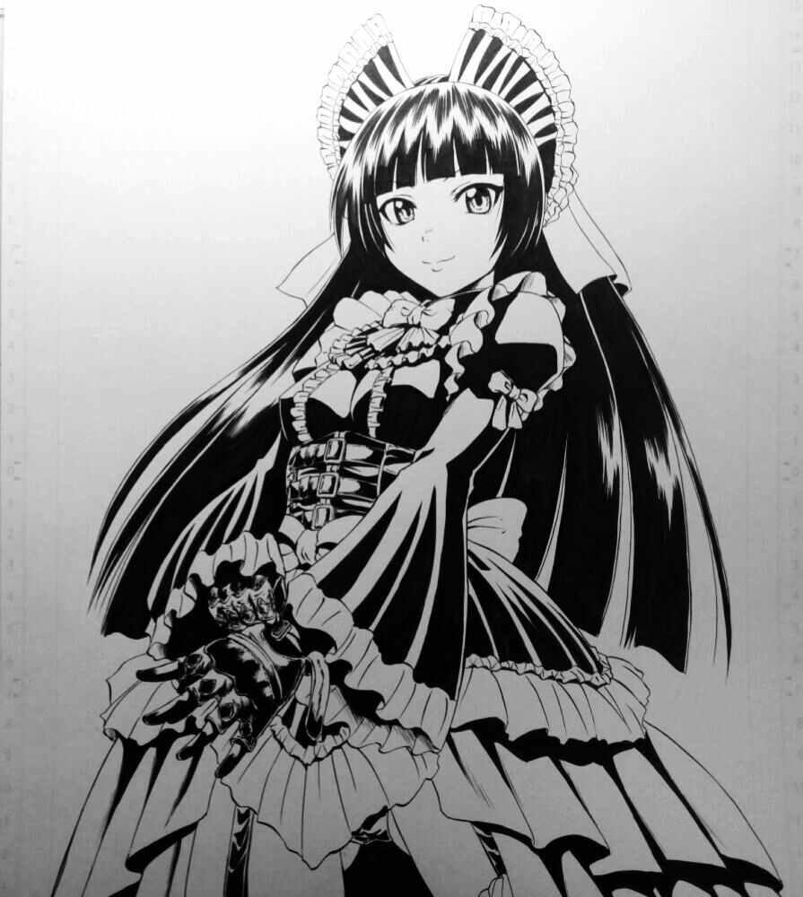 Прикольные аниме картинки черно белые 15