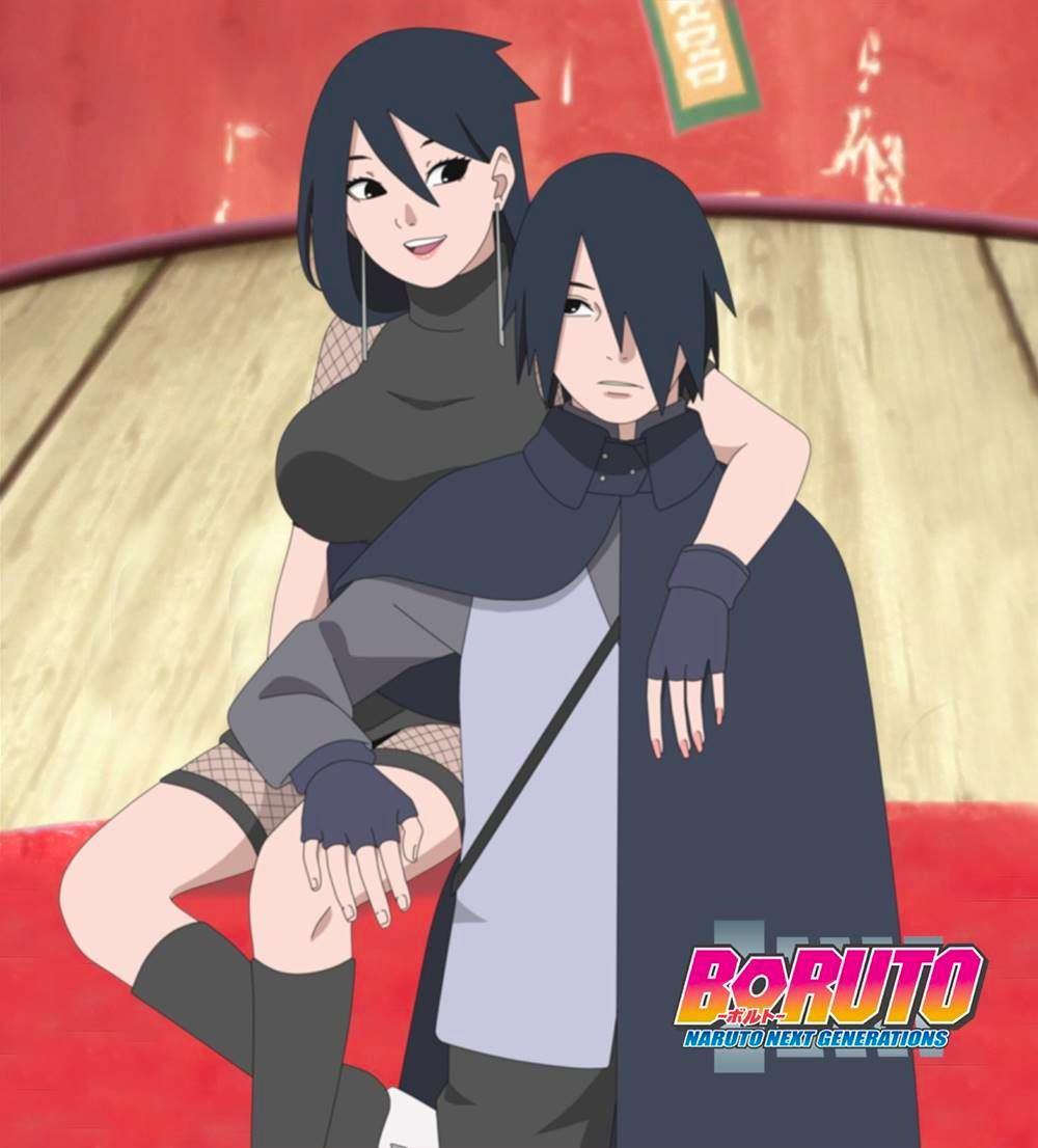 Саске и его сестра Киёми вместе