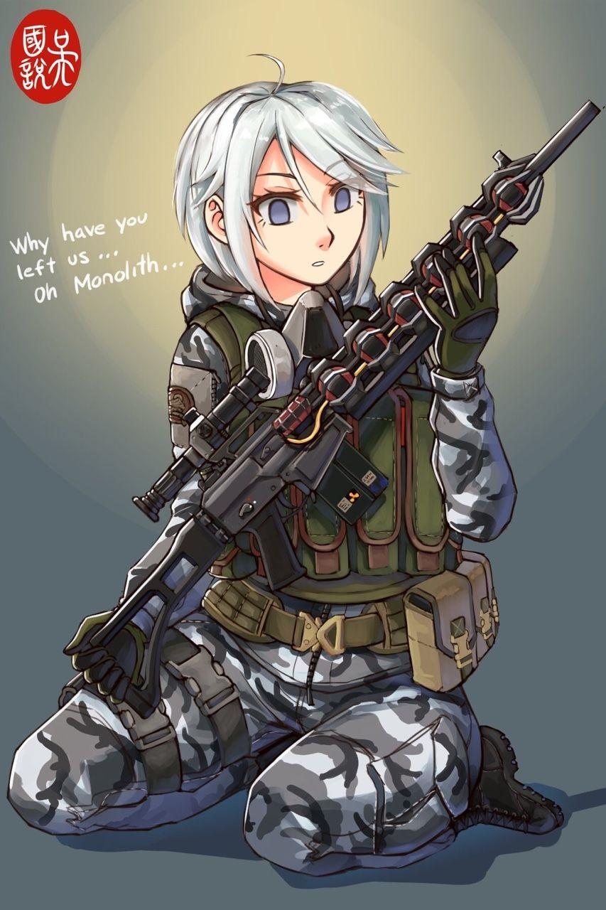 Скачать аниме арты тян с оружием девушки 11