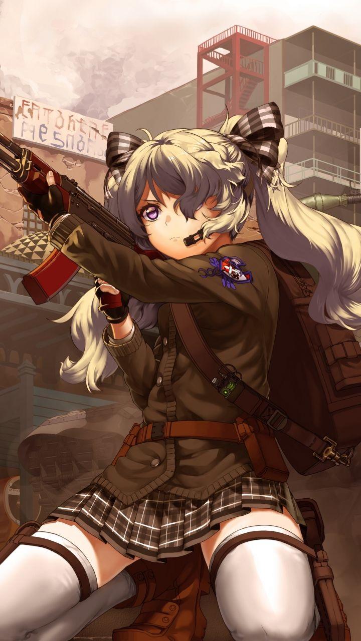 Скачать аниме арты тян с оружием девушки 16