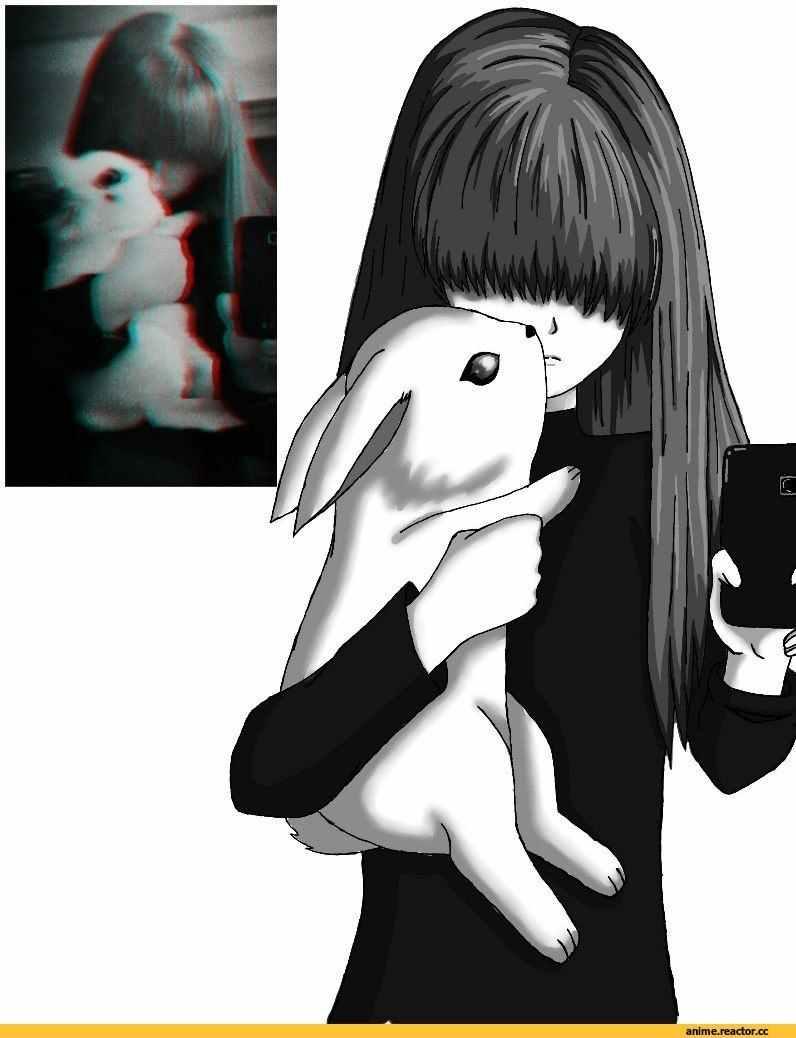 Скачать грустные аниме картинки на аву 09