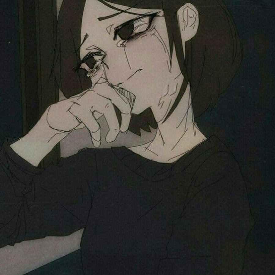Скачать грустные аниме картинки на аву 15