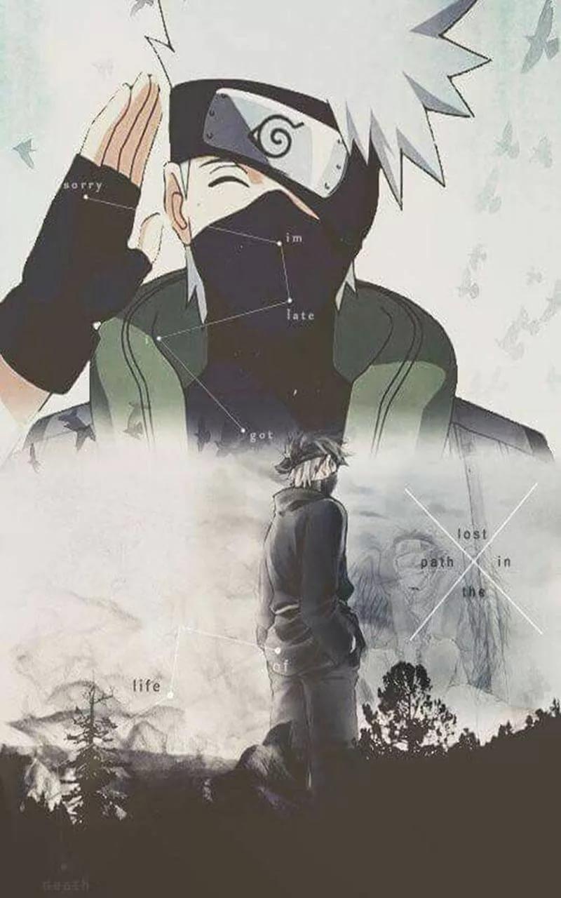 Топовые арт обои Какаши из аниме Наруто 26