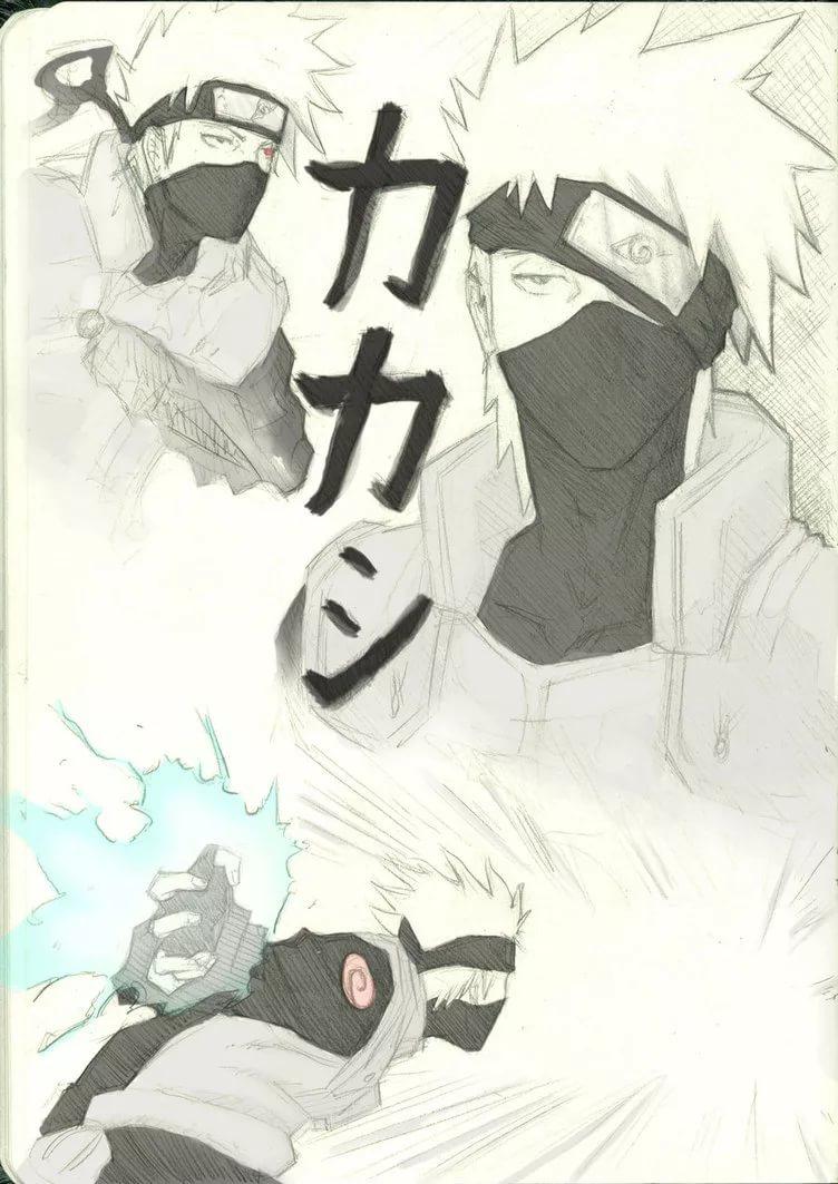 Топовые арт обои Какаши из аниме Наруто 27