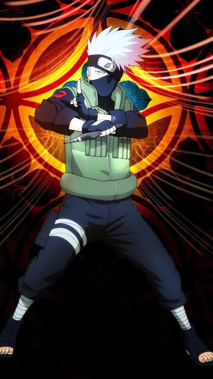Топовые арт обои Какаши из аниме Наруто 31