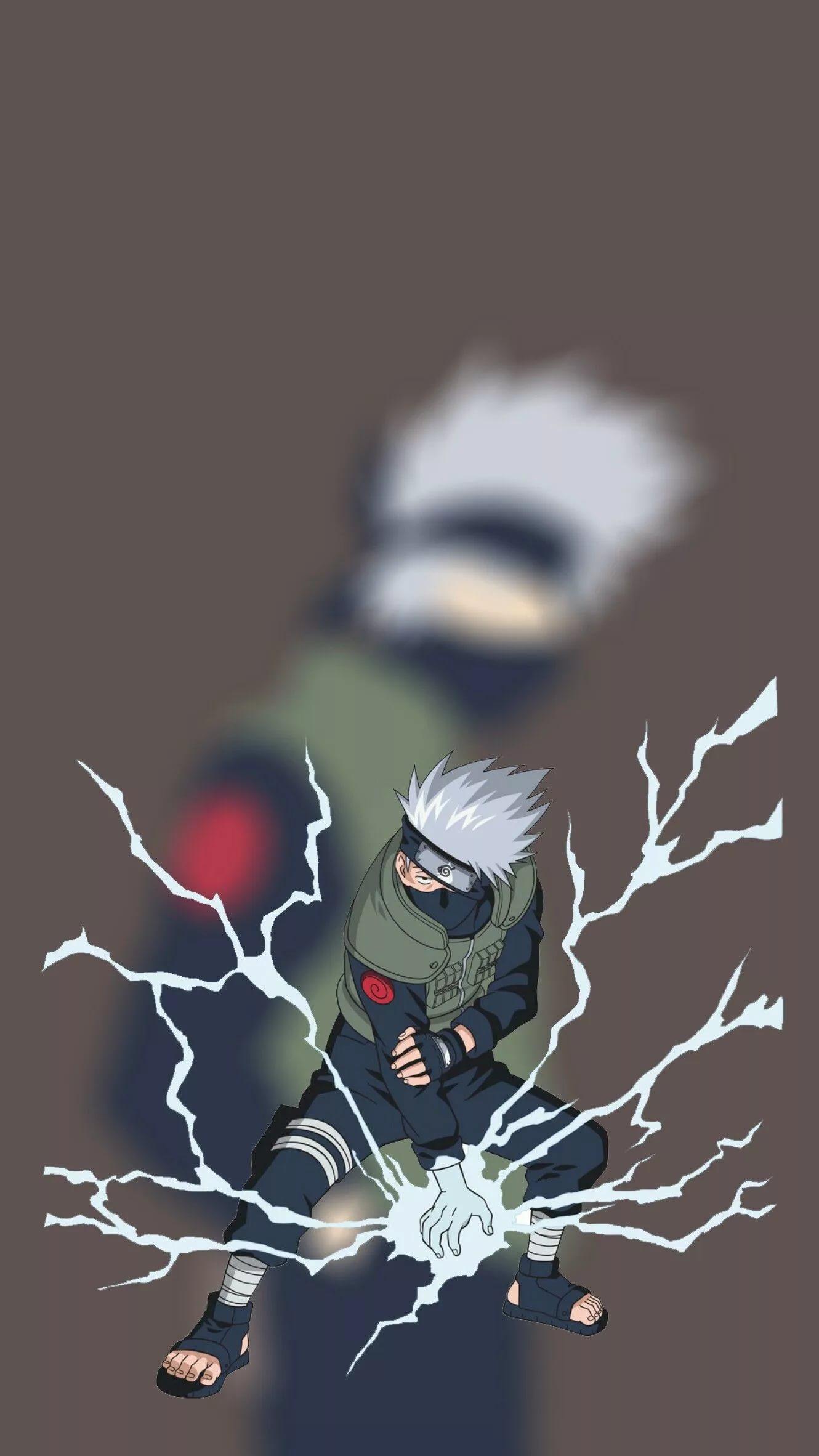 Топовые арт обои Какаши из аниме Наруто 36