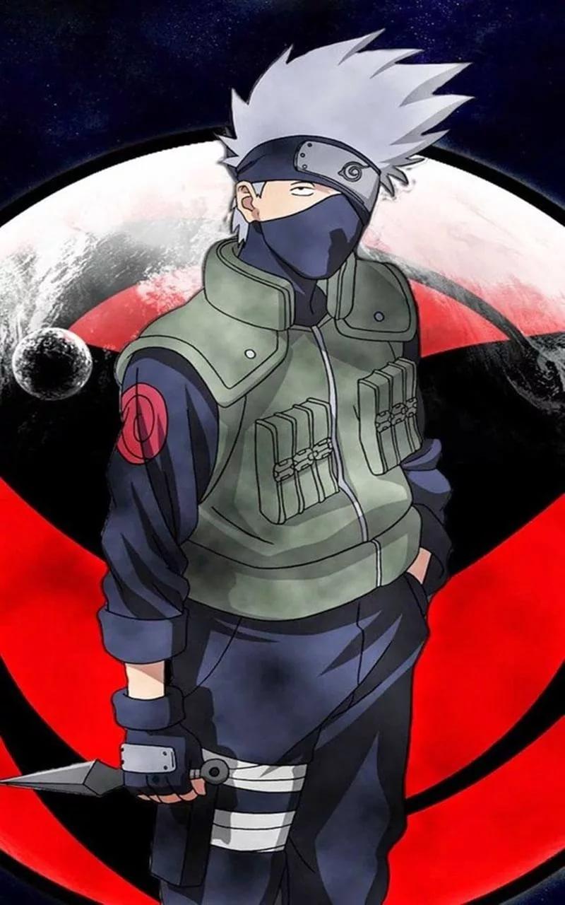 Топовые арт обои Какаши из аниме Наруто 7